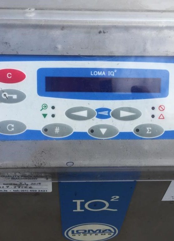 Lomar IQ 2 Metal Detector Complete with Reject Station Stainless Steel Reject Box Complete machine with alarms, control box, auxillary power points. The system takes advantage of nearly 50 years of LOMA's innovation and experience in conveyorized solutions for contaminant metal detection in the food industry and offers optimized mechanics to deliver exceptional performance.