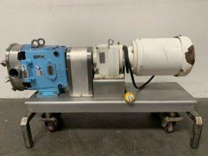Waukesha Cherry Burrell 060 Sanitary Lobe Pump with stainless steel cover, Model 060,